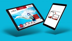 La création d'un website pour une piscine communale. www.aquarhin.com