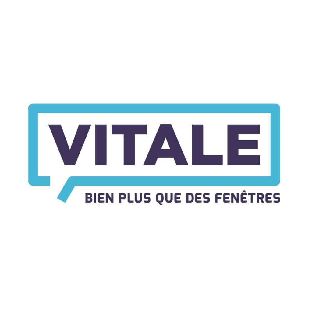 Le logo des fenêtres Vitale à Mulhouse en Alsace. Une création signée Mars Rouge.