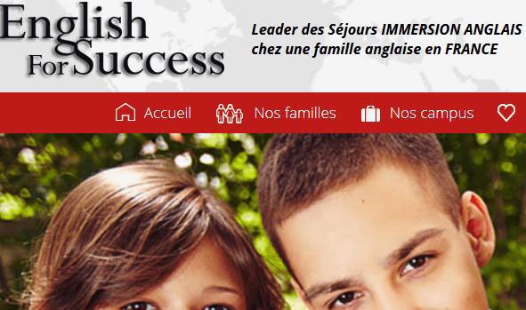 English For Success Leader des Séjours ANGLAIS EN FRANCE
